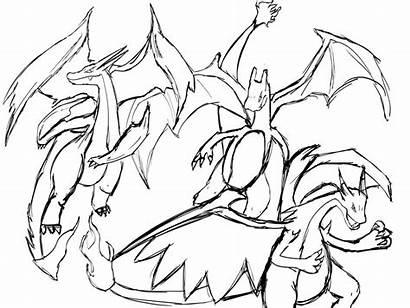 Charizard Mega Pokemon Coloring Pages Drawing Kleurplaten