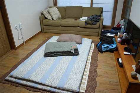 floor mats sleeping a weekend in 경주 novel benedictions