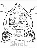 Shrek Coloring Pages sketch template