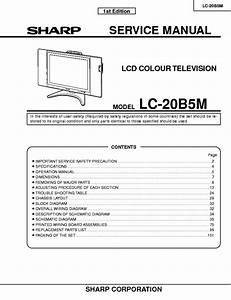 Sharp Lc20b5m Lcd Tv Sm Service Manual Download  Schematics  Eeprom  Repair Info For Electronics