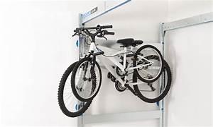 Porte Velo Suspendu : porte v lo double escamotable pour rangement de garage ~ Melissatoandfro.com Idées de Décoration