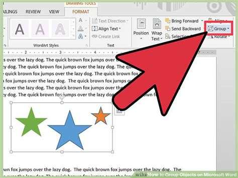 word microsoft objects step drawing version toolbar steps ribbon tools wikihow