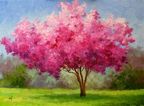 cherry blossom tree l nel 39 s everyday painting 5 4 14 5 11 14