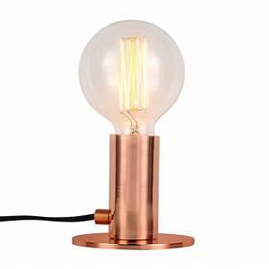 Lampe A Poser Cuivre : lampe poser eos cuivre ampoule incluse koya design ~ Teatrodelosmanantiales.com Idées de Décoration