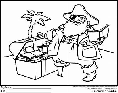 Coloring Pages Pirate Treasure Library Chest Idaho