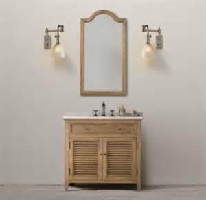 restoration hardware shutter single vanity sink decor look alikes