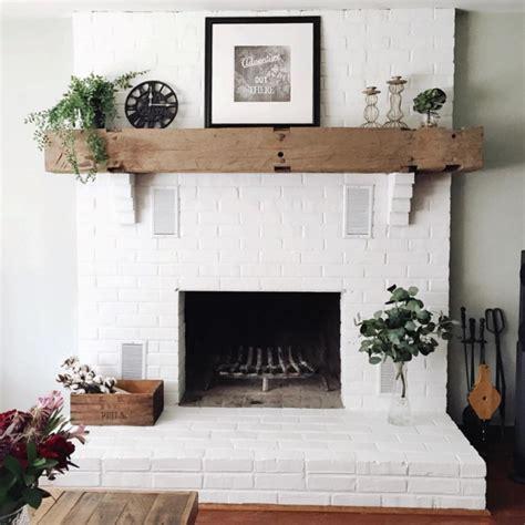 painted brick fireplace get inspired the diy white brick fireplace glitter inc Modern