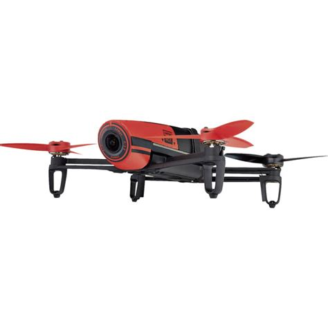 parrot bebop skycontoller red quadcopter rtf including camera  gps rapid