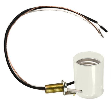 Porcelain L Socket With Leads by Medium Base Socket Porcelain White 660 Watt