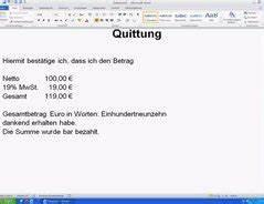 Wareneinsatz Berechnen : video quittung f r barzahlung erstellen so geht 39 s ~ Themetempest.com Abrechnung
