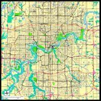 Edmonton, Alberta Digital Vector Maps - Download Editable ...