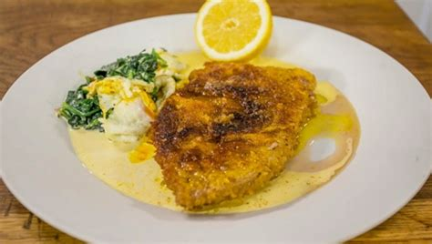Victoria sponge with mixed berries. James Martin veal Milanese with a fried egg and spinach recipe - The Talent Zone