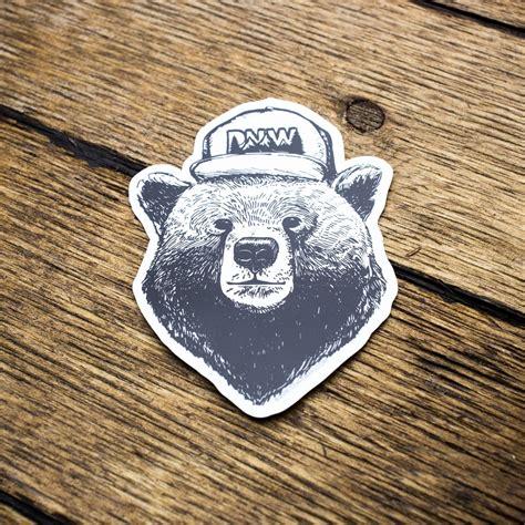 pnw hat bear sticker justcreepgirlythings stickers