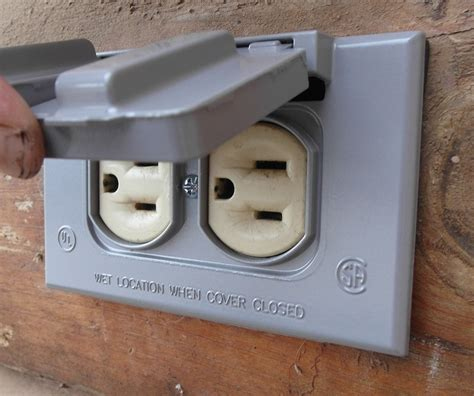 exterior light socket outlet saving money with diy how to replace an outdoor outlet cover