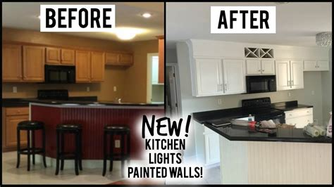 Crown Moulding Ideas For Kitchen Cabinets - v new kitchen lights crown molding house update youtube