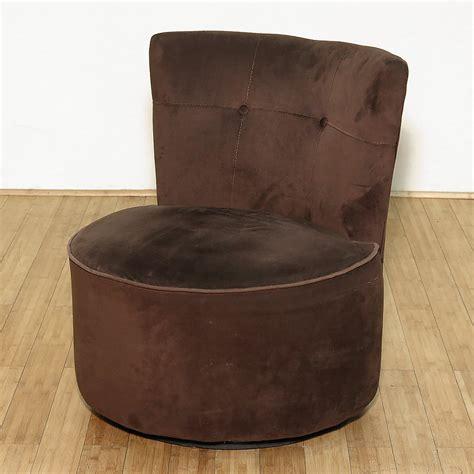 vintage chocolate ultra plush fabric upholstered swivel