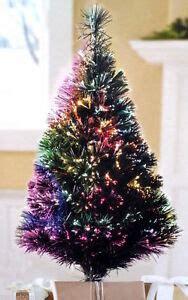 fiber optic christmas tree 5ft 2 5ft color changing green fiber optic table top tree 100 tips ebay