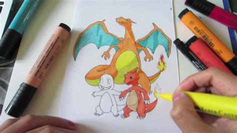 draw pokemon  charmander  charmeleon