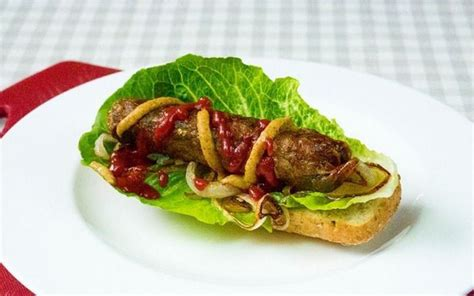 Vegetable Protein Sausage From