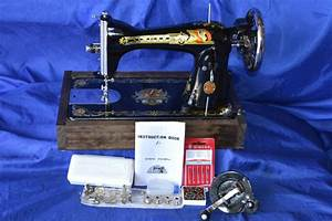 Singer 127 Sphinx Long Shuttle Treadle Sewing Machine And
