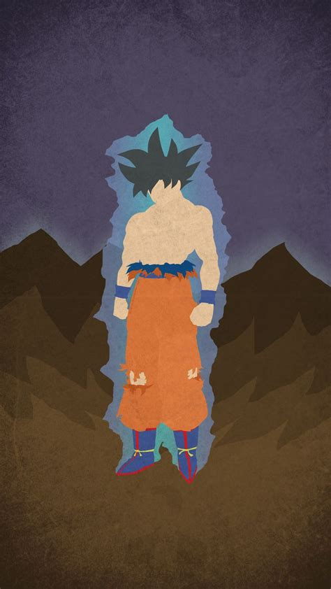 oc ultra instinct goku minimal mobile wallpaper dbz