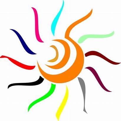 Sun Clipart Clip Colorful Rays Vector Cliparts