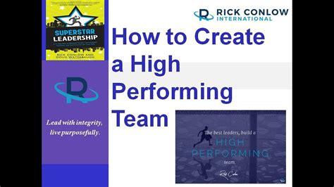 create  high performance team leadership training