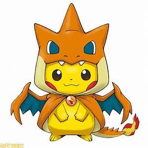 Pikachu Wearing A Mega Charizard Poncho Takes Kawaii To A