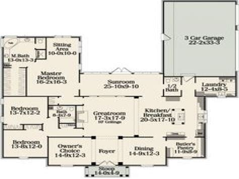 open floor plan house plans one one floor house plans with open concept best one