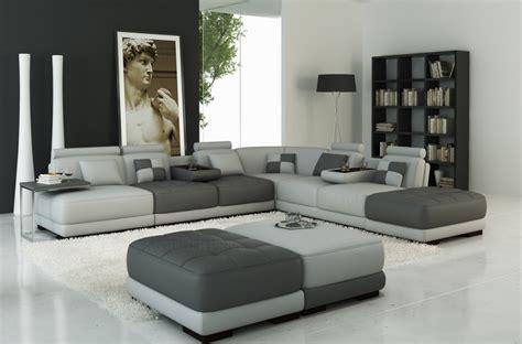 canap 233 d angle en cuir italien 7 8 places elixir gris clair et gris fonc 233 mobilier priv 233