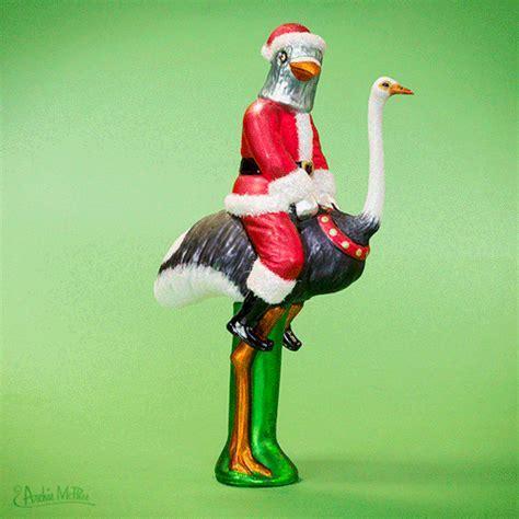 Santa Pigeon Tree Topper ? Archie McPhee