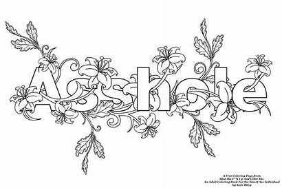 Coloring Pages Adult Words Books Shut