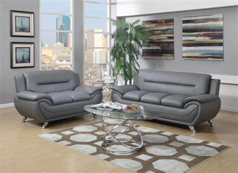 grey modern leather living room sets