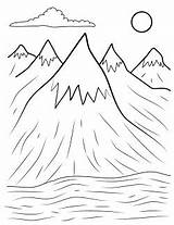 Mountains Coloring Appalachian Mountain Henry Copy Printables Drawings sketch template