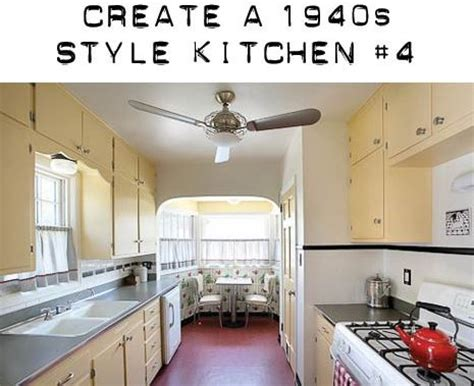 retro kitchen lighting design board to create a 1940s kitchen with yellow 1940