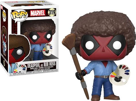 Funko Pop! Deadpool As Bob Ross Figure