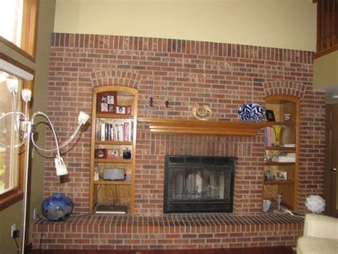diy fireplace update with built in shelves on each hoy remodelamos la chimenea decoración retro