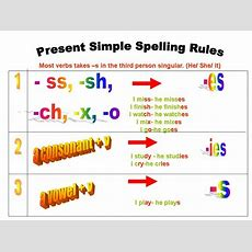 S Present Tense Spelling Rules Kubrateaching