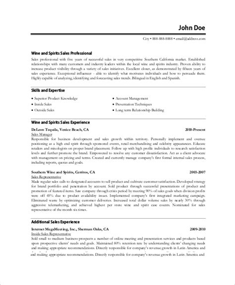 Professional Resume Sles by Sle Professional Resume 8 Exles In Word Pdf