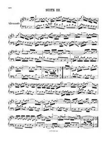 BWV 814 - French Suite No 3 free sheet music by Bach