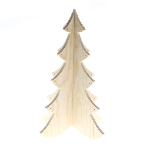 unfinished wood dimensional pine tree christmas trees
