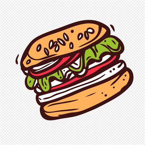What kind of cartoon food blog would this be without the krabby patty? Colorful cartoon hand painted fast food delicious food ...