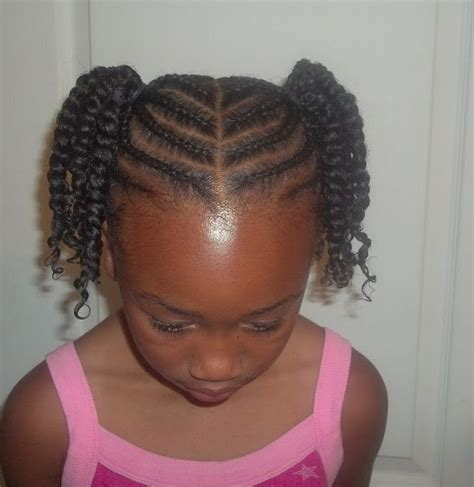 Kid Ponytail Hairstyles by Cornrowed Ponytails With Two Strand Twists So