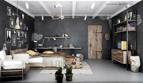best of decoration mur interieur industrial bedroom design interior exterior ideas