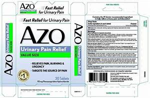 side effects of azo urinary pain relief pills