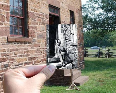 quot then now quot photo of the house at manassas national