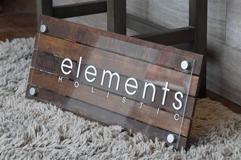 custom pallet or reclaimed wood business sign with logo 10 x