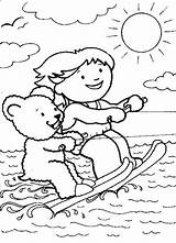 Coloring Pages Skiing Water Beach Fun Trampoline Ski Printable Waterski Bears Exotic Print Familycorner Getcolorings Labels Nature sketch template