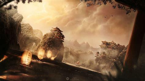 Asian Anime Wallpaper - desktopography digital mountain