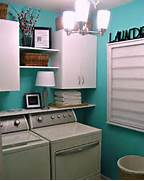 Minimalist Laundry Room Design Laundry Room Is Very Comfortable With Little Ornaments Pastel Blue